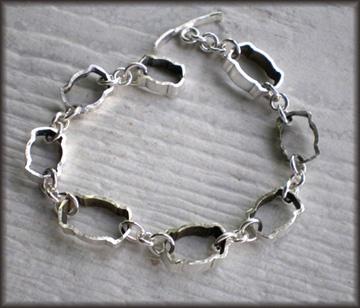 Vintage Silverplate Hollow Knife Slice Link Bracelet #2