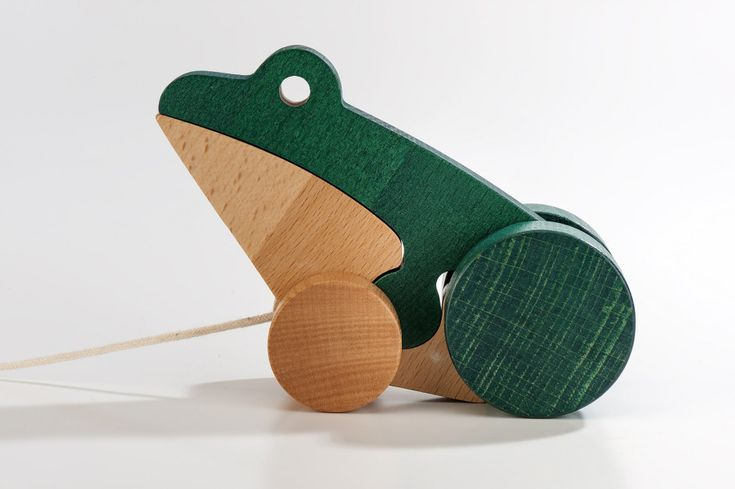 Froggie Talkie Wooden Toy by WellDone Dobre Rzeczy made in Poland on CROWDYHOUSE
