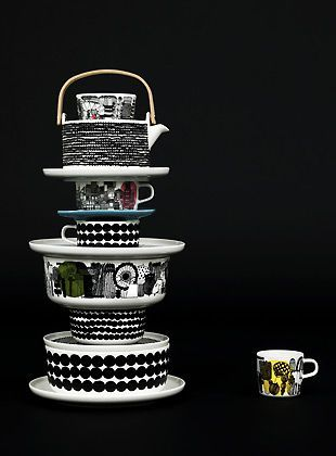 Via Marimekko | Black and White Tableware