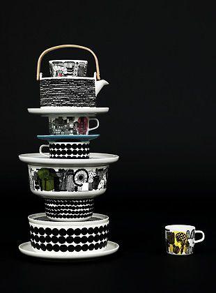 Via Marimekko | Black and White Tableware