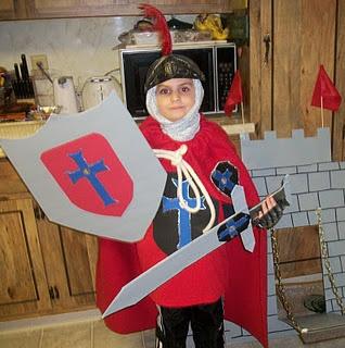 Homemade No Sew Knight Costume