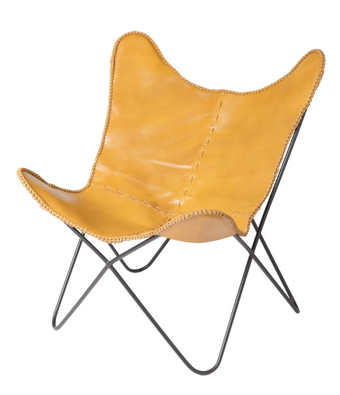 Earth Wind Fire Butterfly Chair - Brown Leather (4 per box)