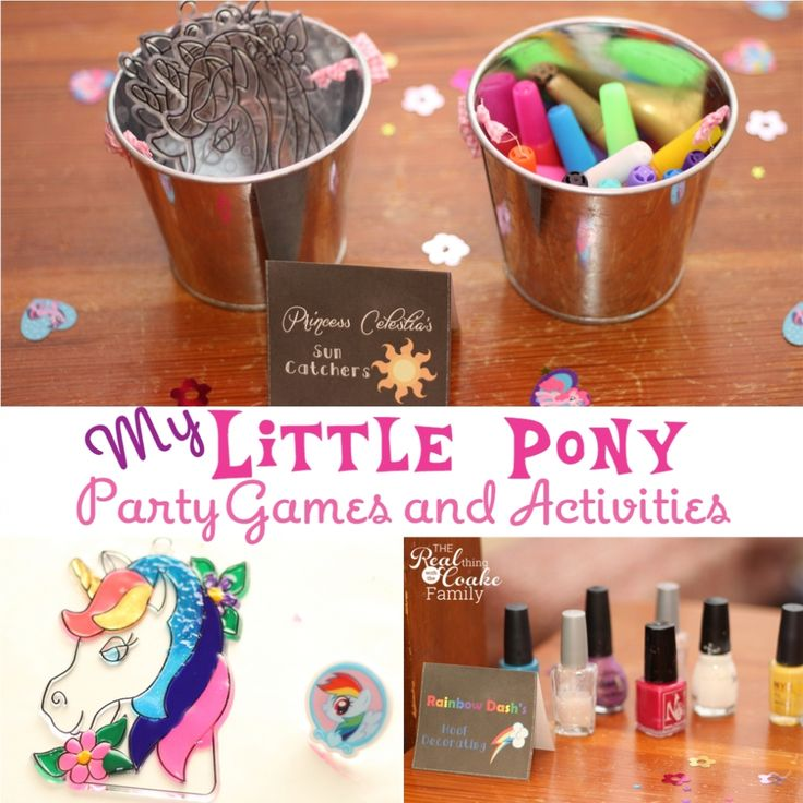 My Little Pony Games ~ Perfect for a My Little Pony themed party! #MyLittlePony #MLP #Games  #Party #RealCoake