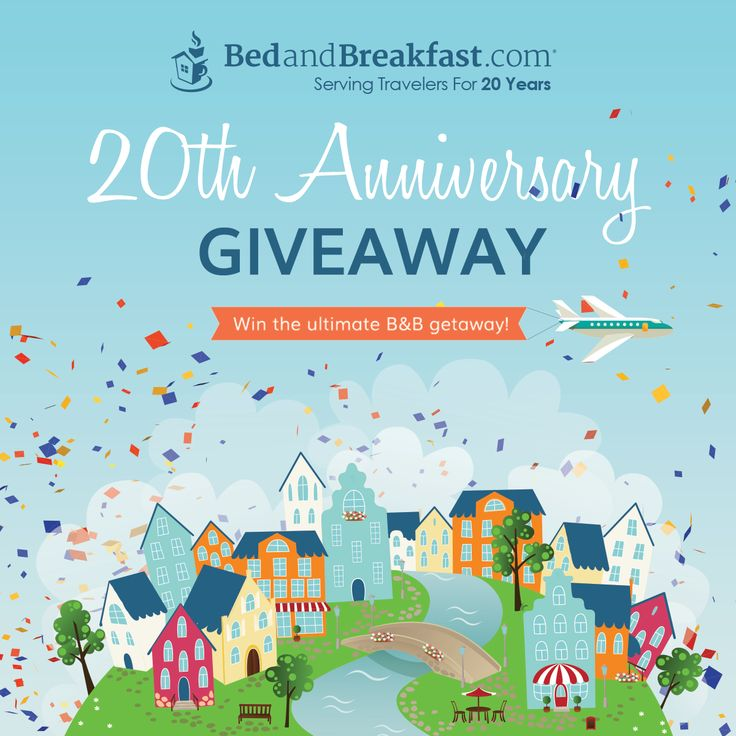 We are celebrating with a huge giveaway—everyone gets a prize! All entrants will win a free personalized photo book from Shutterfly. And one lucky grand prize winner will receive a $500 BedandBreakfast.com Getaway Gift Card®, a $500 airfare gift card, luggage for two, and more!