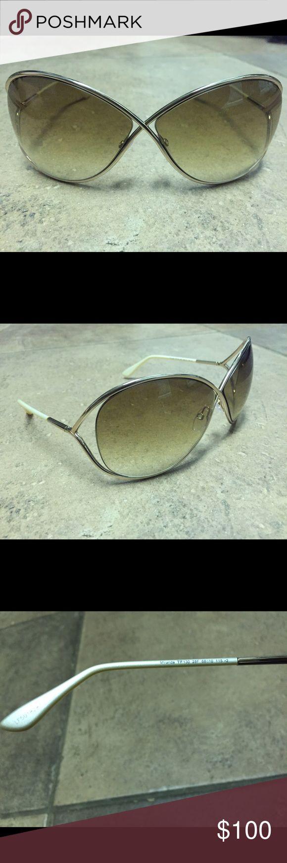 Tom Ford Miranda Sunglasses Gold Tom Ford sunglasses Miranda. Great condition. Super stylish. Tom Ford Accessories Sunglasses