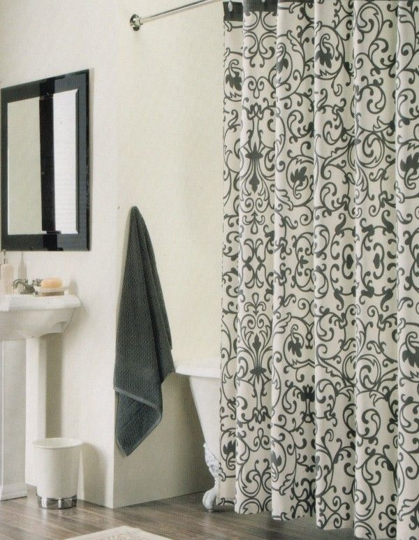 Black And White Shower Curtain Di 2020