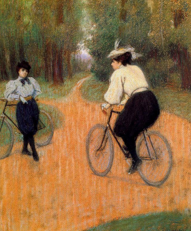 "Federico Zandomeneghi  ""In bicicletta al Bois (Rencontré à bicyclettes)"""