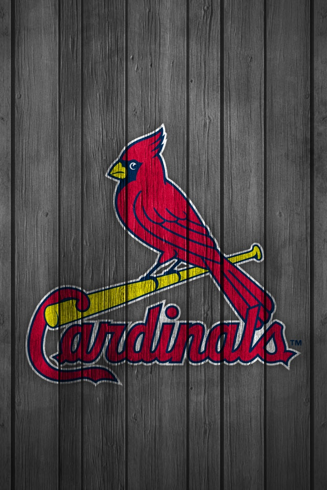 iPhone Wallpaper St. Louis Cardinals (Wood) Baseball