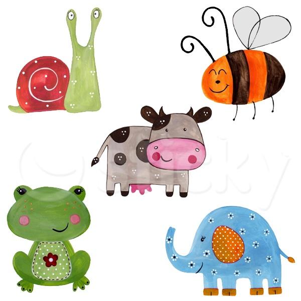 Fabric wall sticker ANIMALS by Sticky!!!