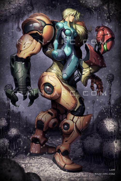 Samus from Metroid 12x18 Art Print