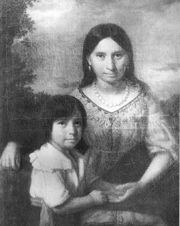 Pocahontas and her son Thomas (Google Image)