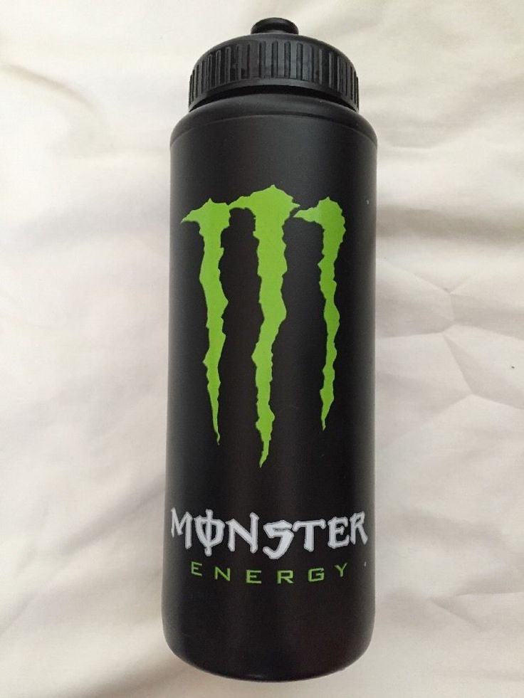 Monster Energy Drink Water Bottle Sipper Green Claw Logo New Promo