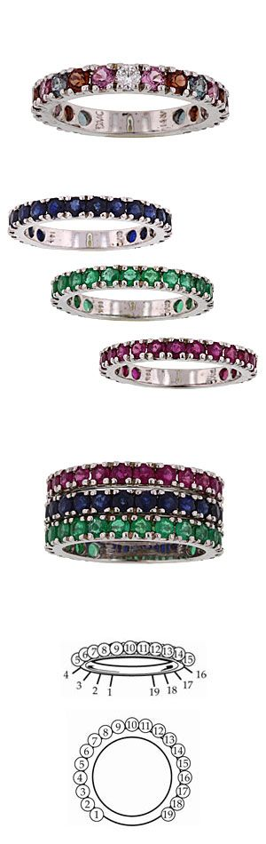 Stackable Eternity Rings. I love these! Need 1 for each child. In gold of course!