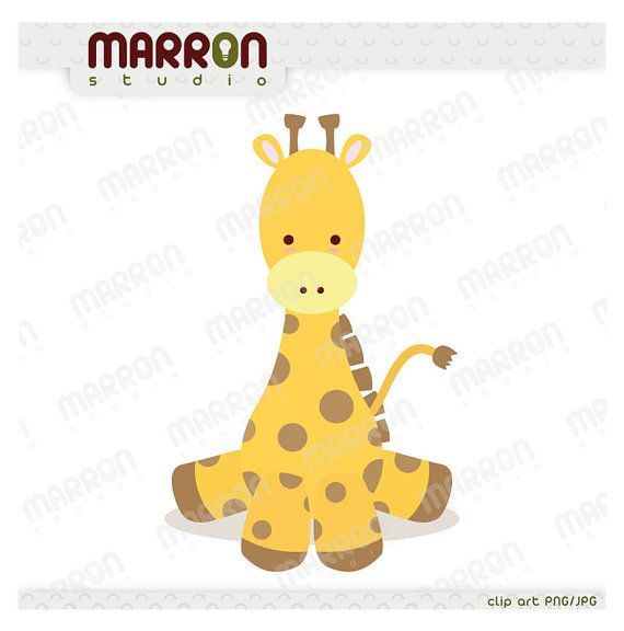 Baby Shower Giraffe Images ~ Cute baby giraffe kawaii style clipart for birthdays or showers instant digital download