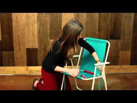 How to Make A Macramé Chair   Macrame Tutorial - YouTube