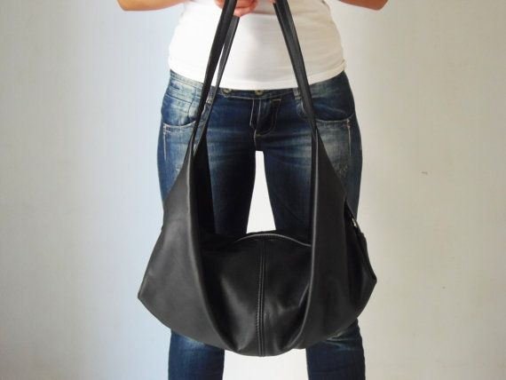 Hey, I found this really awesome Etsy listing at https://www.etsy.com/listing/170256759/black-leather-shoulder-bag-black-handbag