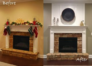 DIY board and batten fireplace remodel---under $65 dollars for a family room high impact transformation--Sew Sweet Cottage