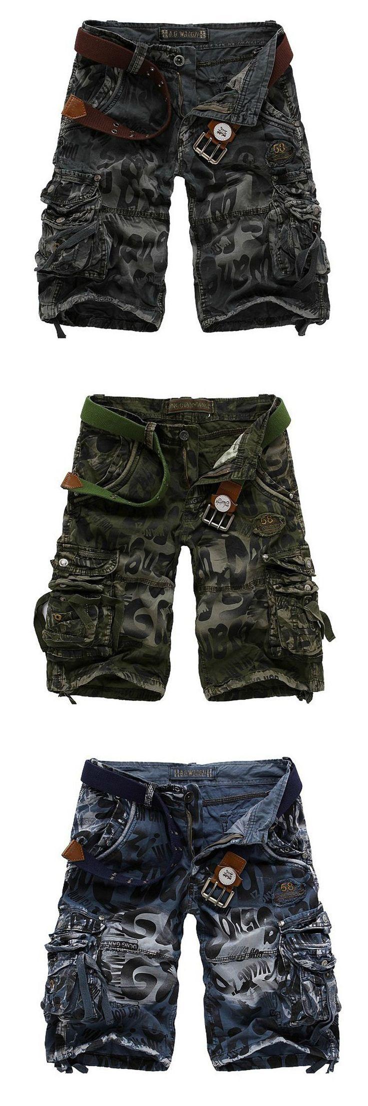 New 2017 New Tooling Shorts Thin Multi-pocket tooling camouflage Work shorts Men fashion lager size fashion shorts Men A1985