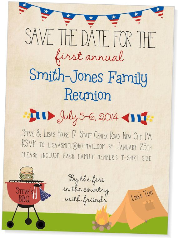 21 best Family Reunion Invitations images on Pinterest Family - class reunion invitation template