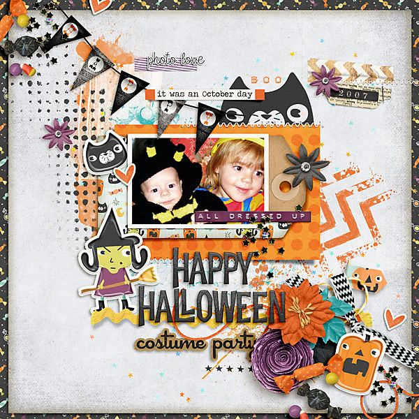 2007 Happy Halloween Costume Party by Iowan using digital scrapbooking products from the Lilypad