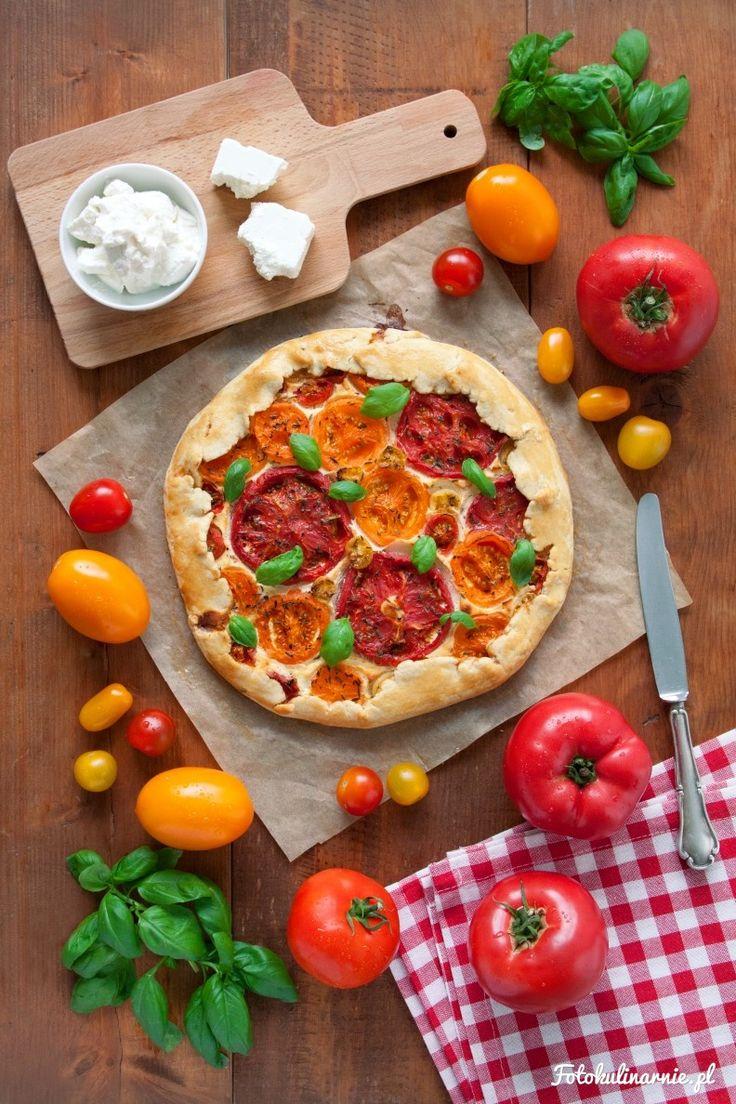 Tomatoes, Feta and Ricotta Galette.