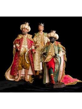 Reyes magos serie limitada. Figuras tradicionales del Belén Napolitano.