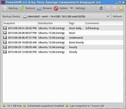 Com instalar um aplicativo de restauração do sistema no Ubuntu
