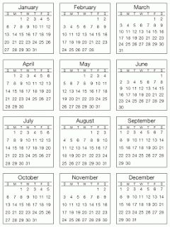 SRM Stickers: Mini Calendars