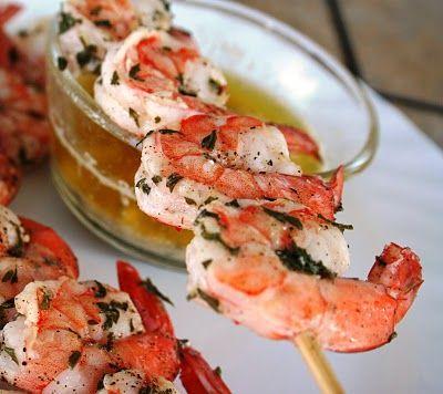 Brochettes de crevettes à l'ail pour B.B.Q. Fait !