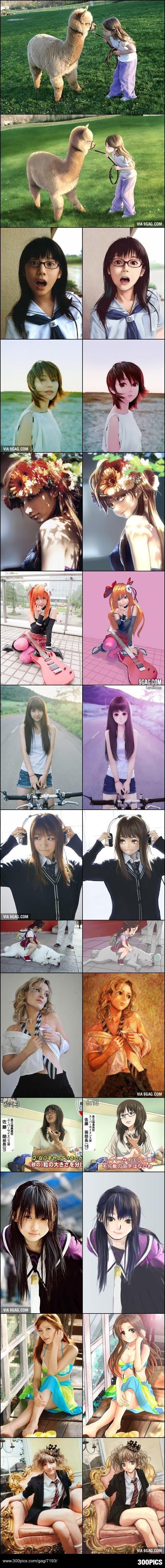 Real Life vs. Anime Girls - 300Pics