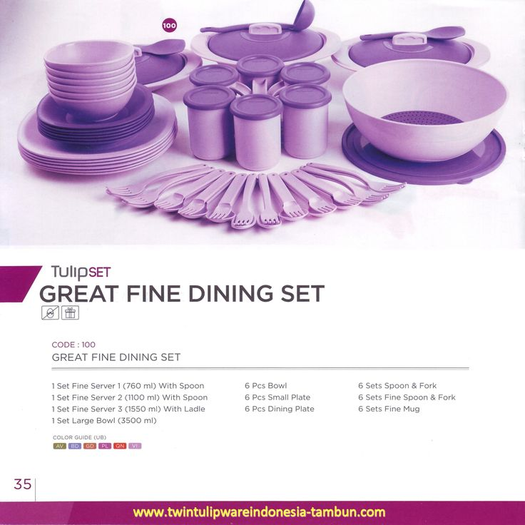 Great Fine Dining Set - Tulipware