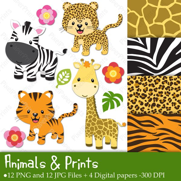 Animals & Prints Clipart & Digital papers - Cliparts - Mygrafico.com