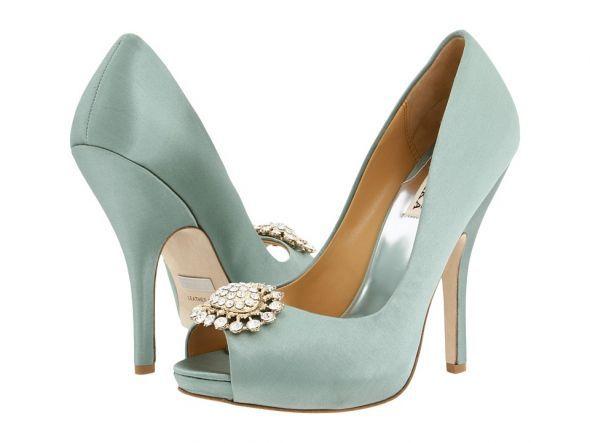 Seafoam Green Badgley Mischka Lissa Pumps  www.LuckyLittleLove.com