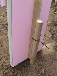 Foam tombstones and a good idea on keeping them in the ground