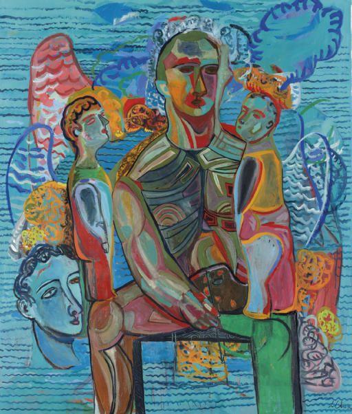 Sandro Chia (b. 1946), Half Past Twelve, 1993-94, oil on canvas, 240 x 203.2 cm