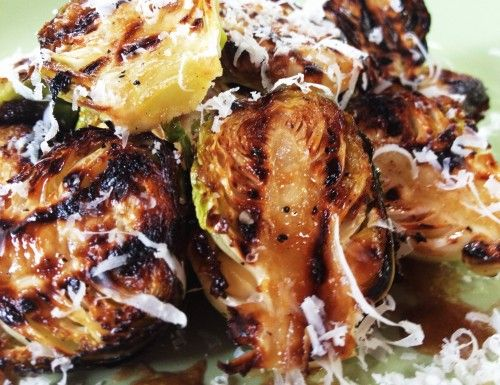 Grilled Brussels Sprouts with Balsamic Vinaigrette. New fav brussels recipe!