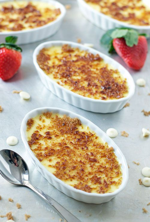 White Chocolate Strawberry Creme Brulee - www.thelawstudentswife.com