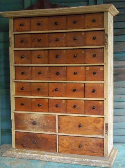 Antique 34 drawer apothecary <3