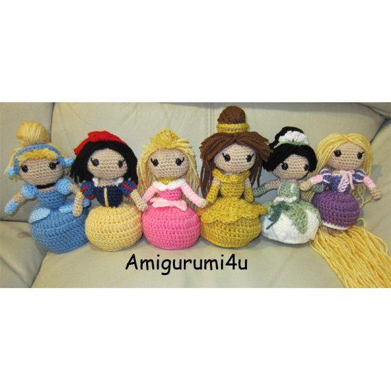 Amigurumi Star Wars Patrones Gratis : Disney Princess Handmade Amigurumi Crochet Doll Cinderella ...
