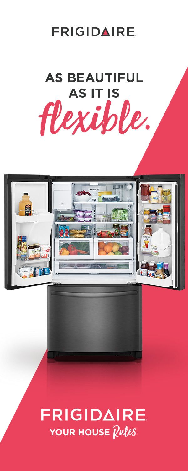 Dress up your kitchen with our beautiful, new Black Stainless Steel French Door Refrigerator. Clean-up is a snap thanks to the fingerprint resistant Smudge-Proof™ finish. Plus, with over 100 ways to organize the interior storage, you can store your favorites, your way.