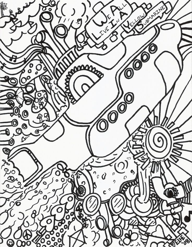 Pin by rebekah oliver on colouring in sheets az coloring for Hippie coloring book pages