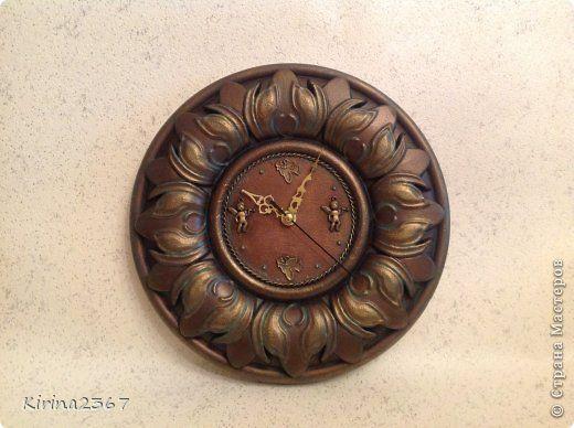 Часы из потолочной розетки своими руками