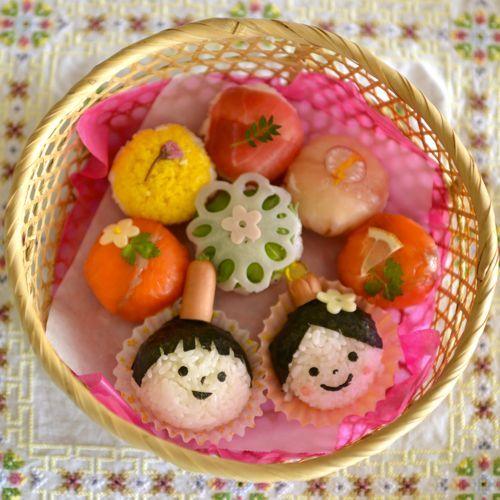 春のかわいい手鞠寿司*LOVE BODY LOVE EARTH : 日々のテーブル、あちらとこちら