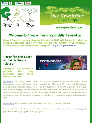 """Edition 4- """"Party For the Earth""""- September 2012"""