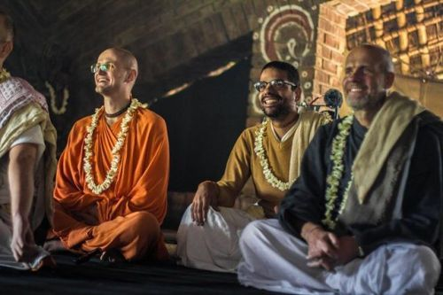 """Bhaktivedanta Academy Alumni: Graduation of Kṛṣṇa Caitanya Dāsa and Kṛṣṇa Candra Dāsa (Album of photos)  Srila Prabhupada: """"Go to Vrndavana and chant the Hare Krishna mantra constantly."""" This is a solution to all sinful activities. Chant the Hare Krishna maha-mantra, be freed from all the complexities of life, and realize Krishna, the Supreme Personality of Godhead. Engage in His devotional service and perfect your life so that you can return home, back to Godhead. (Sri Caitanya-caritamrta…"""