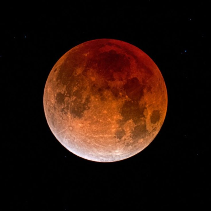 It was a Blue Moon, a supermoon and a moon in total eclipse. Eliot Herman in Tucson, Arizona, submitted this photo. It's the fully eclipsed moon on January 31, 2018, 20 minutes into totality.