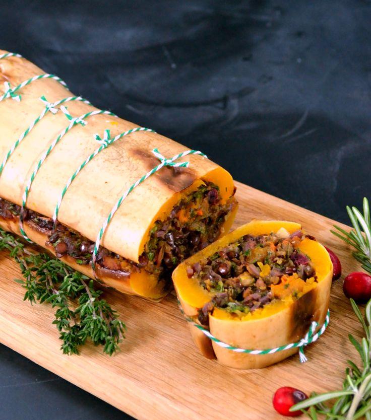 Festive Butternut Loaf - ultimate vegetarian & vegan Christmas dinner