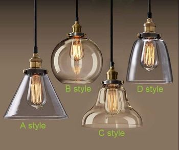 ampul kolye ışık bakır cam restoran kolye ışık tek kolye ışık eski katlanabilir duvar lamba amerikan tarzı