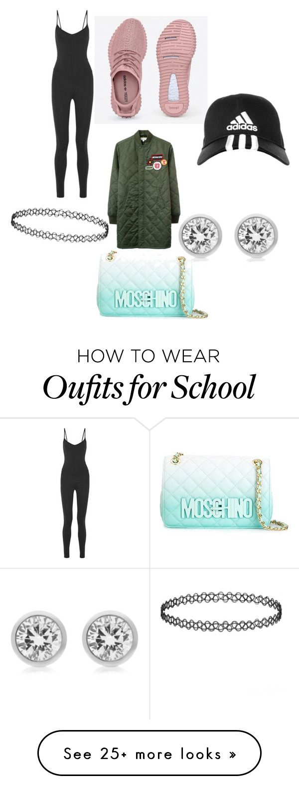 """""""School girl"""" by naomistylez on Polyvore featuring Live The Process, MadeMe, adidas, Michael Kors, Moschino, women's clothing, women, female, woman and misses"""