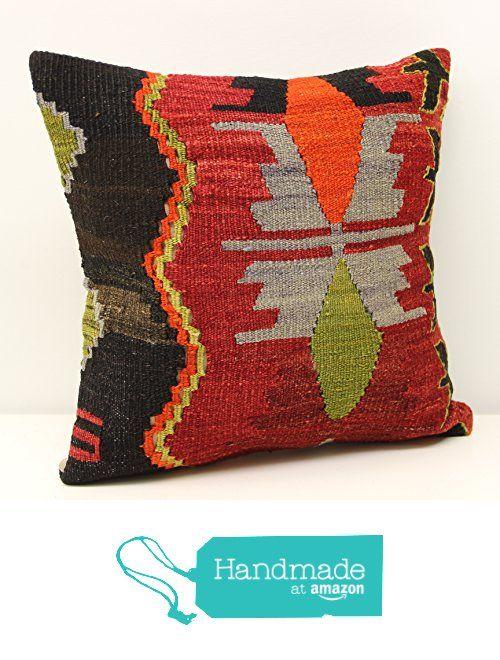 Art Deco kilim pillow cover 16x16 inch (40x40 cm) Boho kilim pillow cover Home Decor Natural Pillow cover Chevron Kilim Cushion Cover from Kilimwarehouse https://www.amazon.com/dp/B01NGYRSTL/ref=hnd_sw_r_pi_dp_v3KxybS8QP6KH #handmadeatamazon